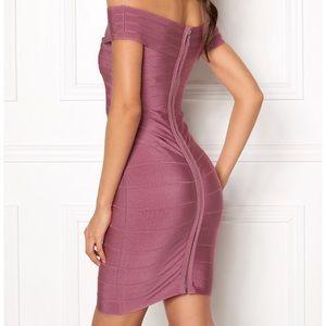 WOW Couture Janiyah mauve bandage bodycon dress